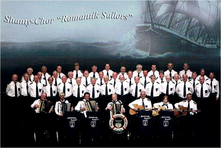 Romantik Sailors bild des Chores